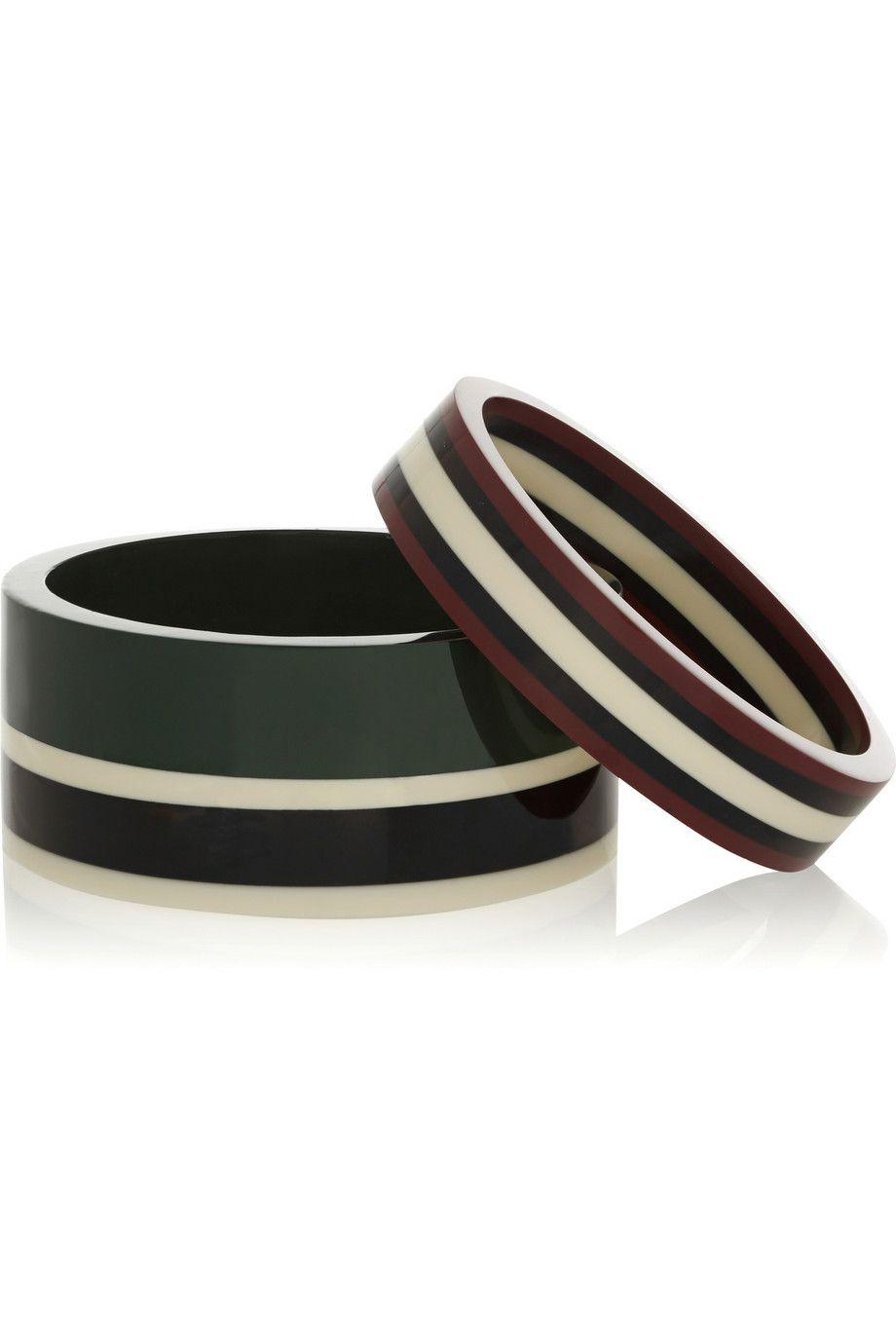 MARNI Set of two resin bracelets £300