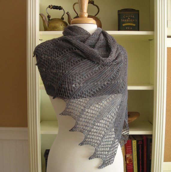 0861dccfd0e40 Lace Scarf Shawl Knitting Pattern Mistral Scarf French inspired ...