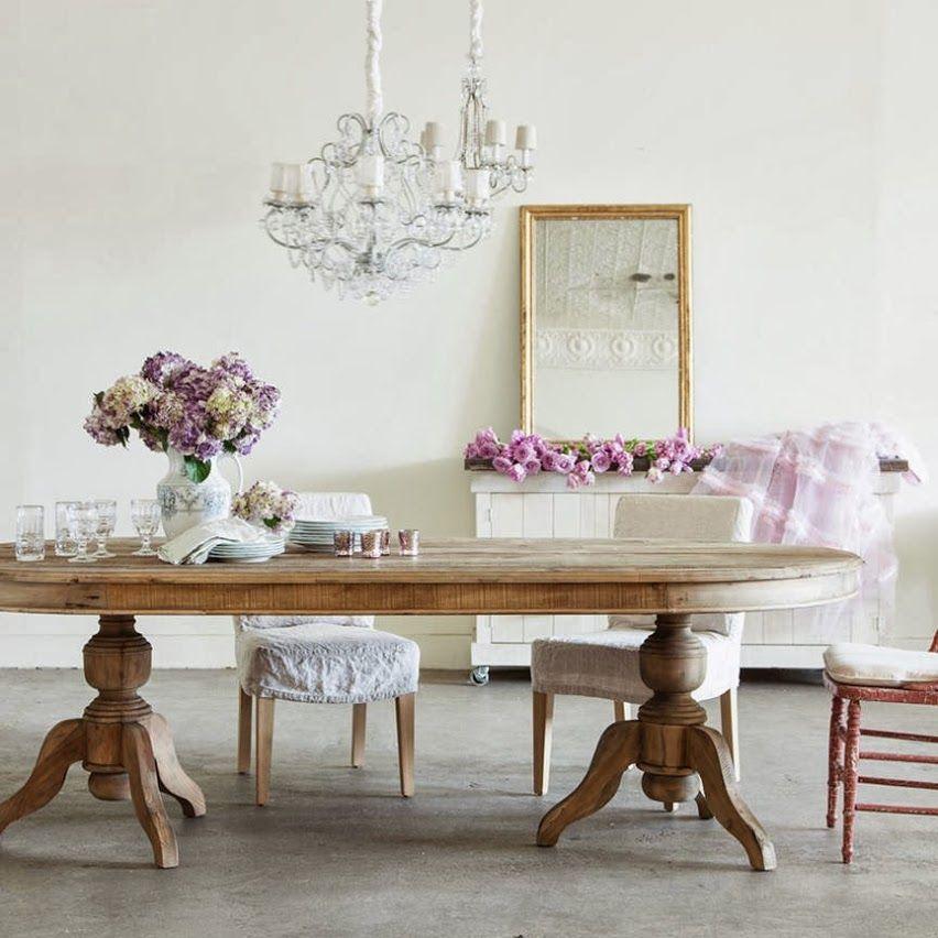 Como decorar un comedor shabby chic roble shabby y - Como decorar un comedor minimalista ...