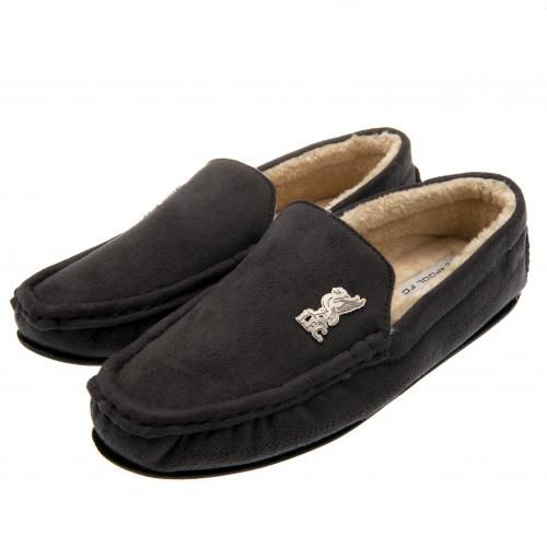 991fa779a79a LIVERPOOL FC Luxury Men s Moccasin Slippers with soft fleece lined insole  and metal Liverpool FC badge. Shoe size 7   8 (UK) 41   42 (EU). Official  Licensed ...