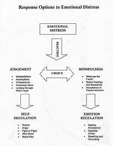 Response To Emotions Dialectical Behavior Therapy Dbt Therapy Therapy Worksheets