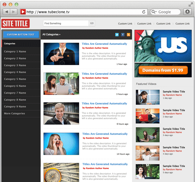 The best WordPress video theme. TubeClone.TV designs, developers ...