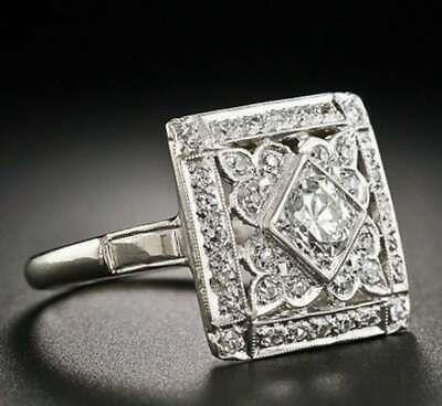 Photo of (Ad)eBay Link – Vintage Art Deco Engagement Cocktail Ring 14K White Gold Over 2C…