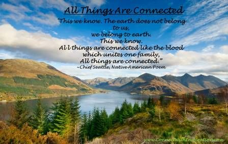 One World, All things are connected quote, beautiful landscape ...