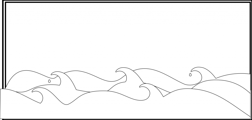 Ocean Wave Pencil Coloring Pages