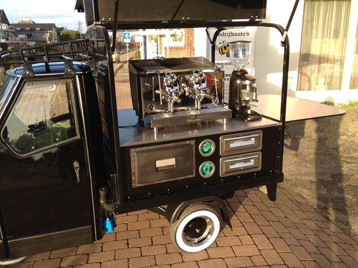 vintage & supercar piaggio ape coffee van | just for me