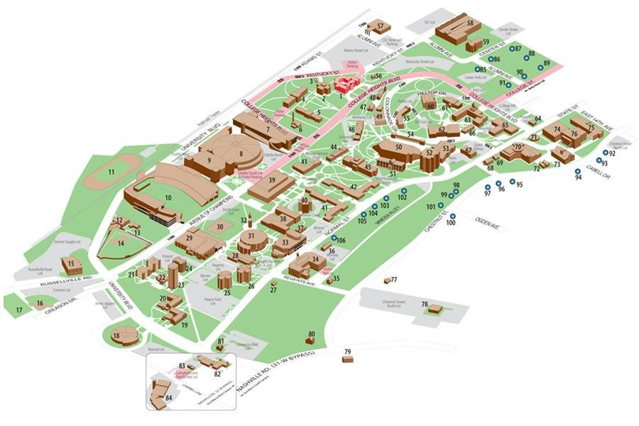 Wku Campus Map Campus Map Campus Map