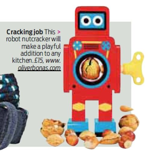 Our cracking robot nutcracker featured in Saturday's Daily Mail - makes a great stocking filler! http://www.oliverbonas.com/gift_ideas/by_recipient/for_him/robot_small_nutcracker.htm #Christmas #fun #novelty #LoveOB