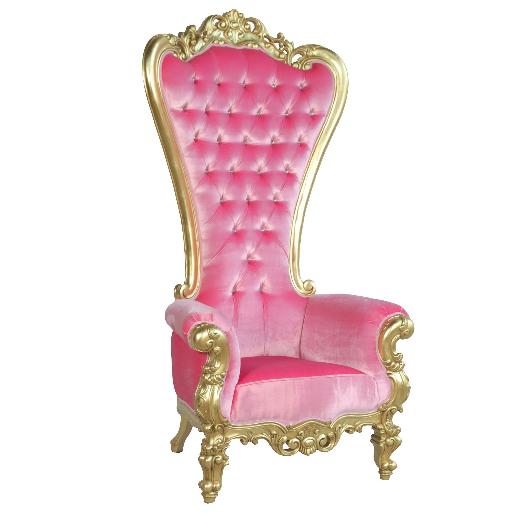 Absolom Roche Chair Gold and Pink Velvet fabulous and baroque