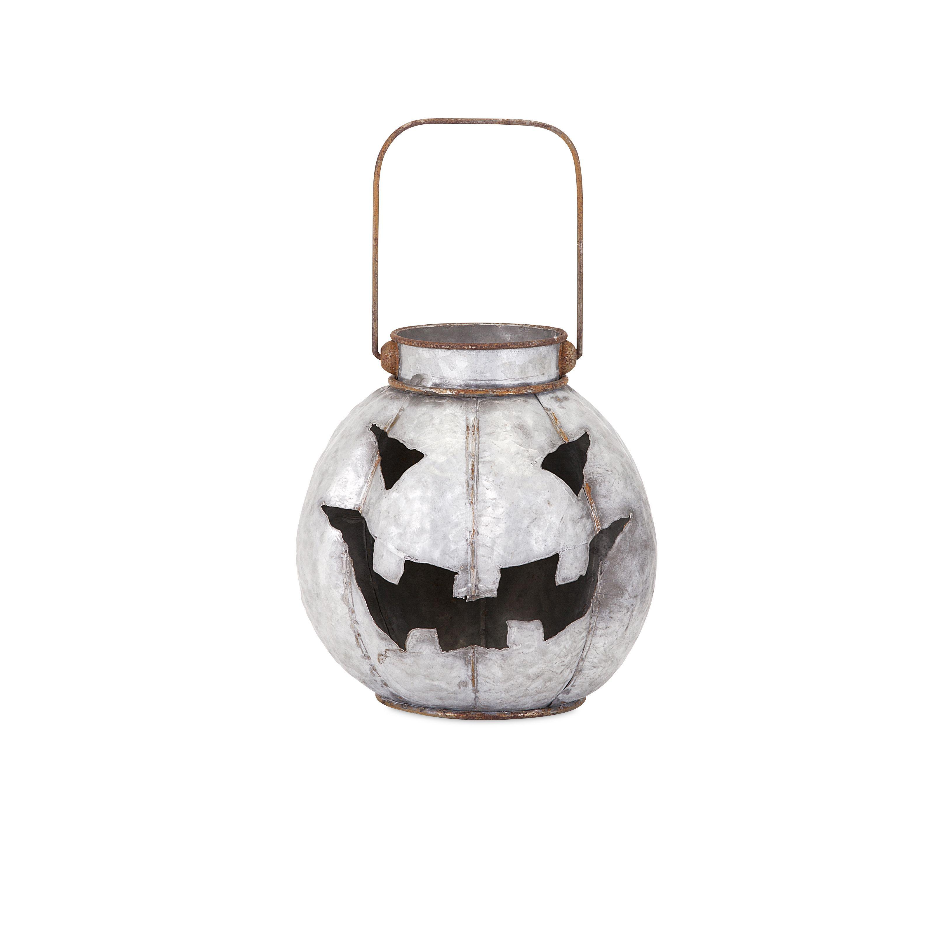 Imax Rylan Galvanized Jack O Lantern