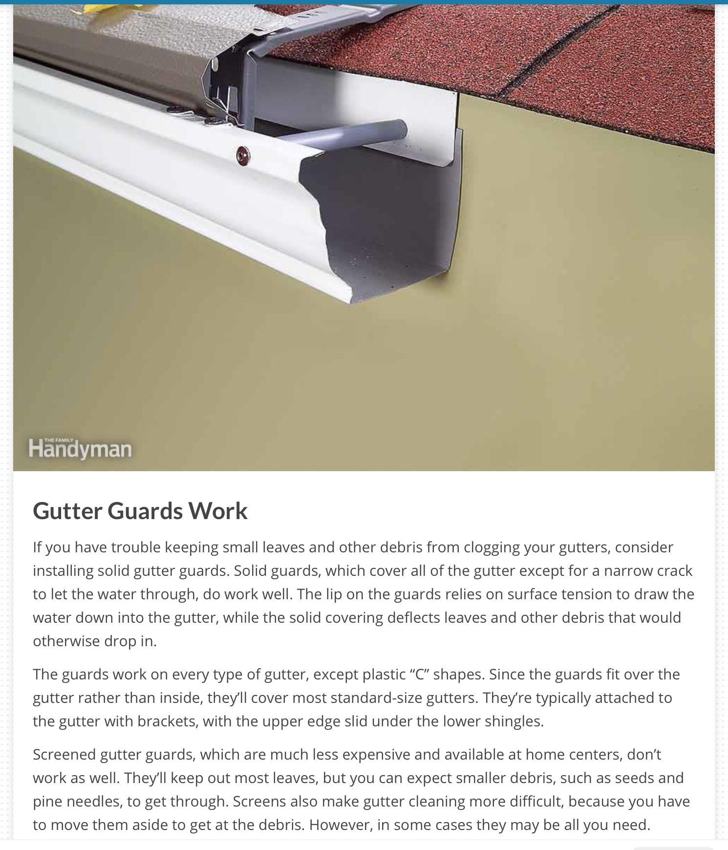 Pin By Buzz Kennedy On Gutters Gutter Guard Gutters Small Leaf