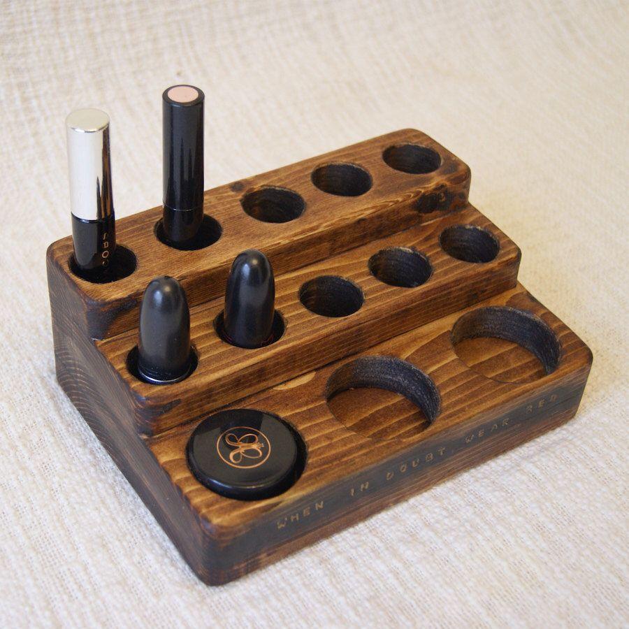 Natürliche rustikal Mahagoni Holz Schreibtisch-Organizer Office ...