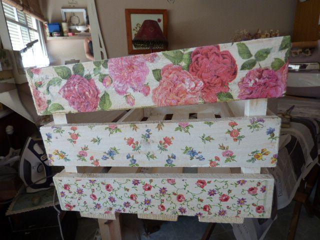 Un poco de inspiración para decorar cajas de madera Decoupage