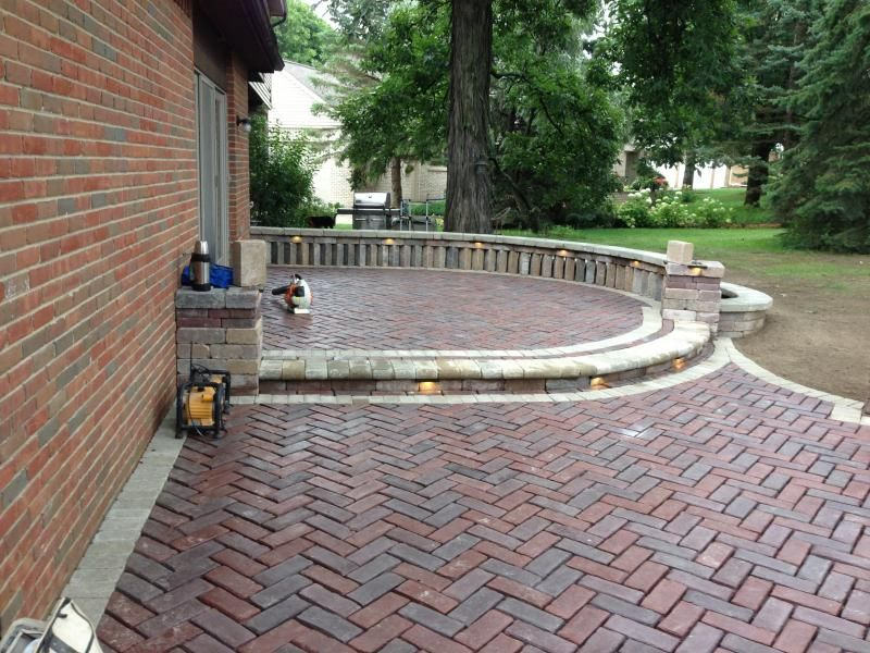 Red Brick House Gray Paver Patio | Paver Bricks   Jetstream Landscape