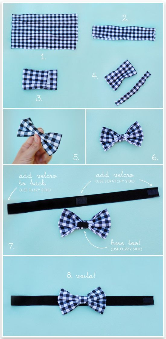 77fc172718d7 No Sew Doggie Bow Tie | Pretty Fluffy. YES!!!! I have been wanting to buy  one for Argos but their 50+ dollars... I am SO making this!