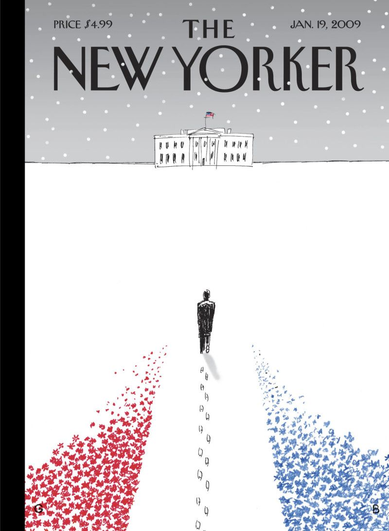 The New Yorker Cover - January 19, 2009 - Guy Billout
