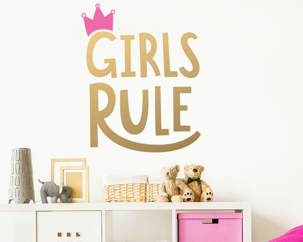 Girls Rule Wall Decal - Kids Room Decal Nursery Decal Removable Wall Sticker  sc 1 st  Pinterest & Girls Rule Wall Decal - Kids Room Decal Nursery Decal Removable ...