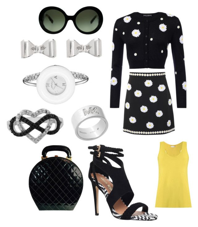 """""""Untitled #315"""" by grisucloset on Polyvore featuring Dolce&Gabbana, Prada, Miss KG, Chanel, Jewel Exclusive, Marc by Marc Jacobs, Michael Kors and Lygia & Nanny"""