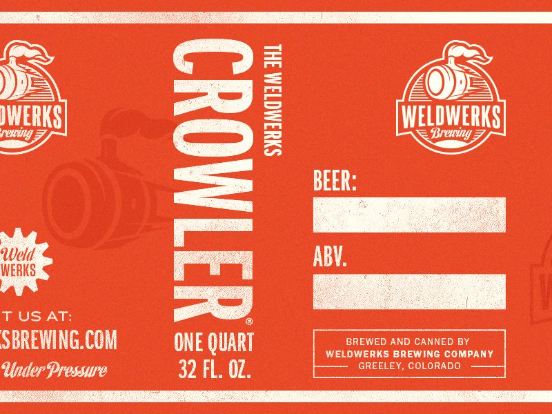 Weldwerks Crowler Can Concept Label Templates Craft Brewing Label Design