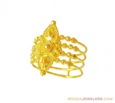 ff2f8ccca9a7c5 Fancy Gold Shine Ladies ring 22k ( Ladies Gold Ring ) | ✨Indian ...