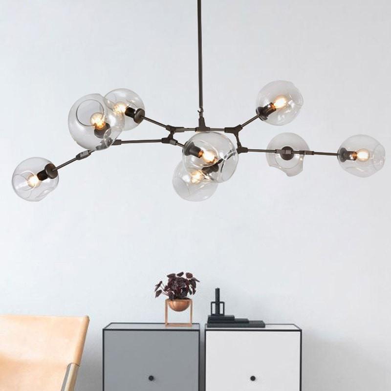Globe Glass Lights Modern Minimalist Design Chandelier Vintage