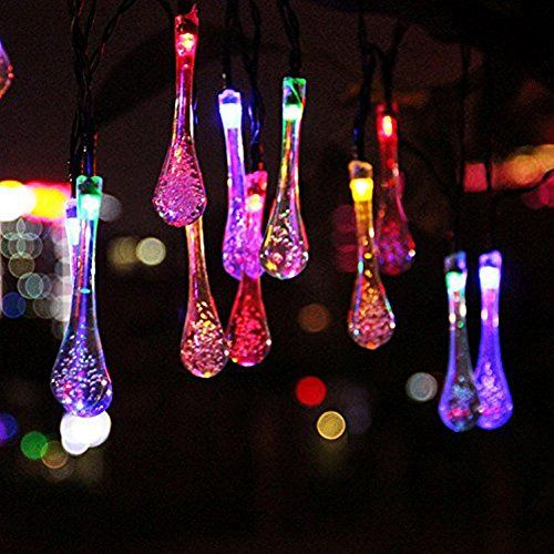 15ft 20 LED Solar Christmas Lights Outdoor Garden String