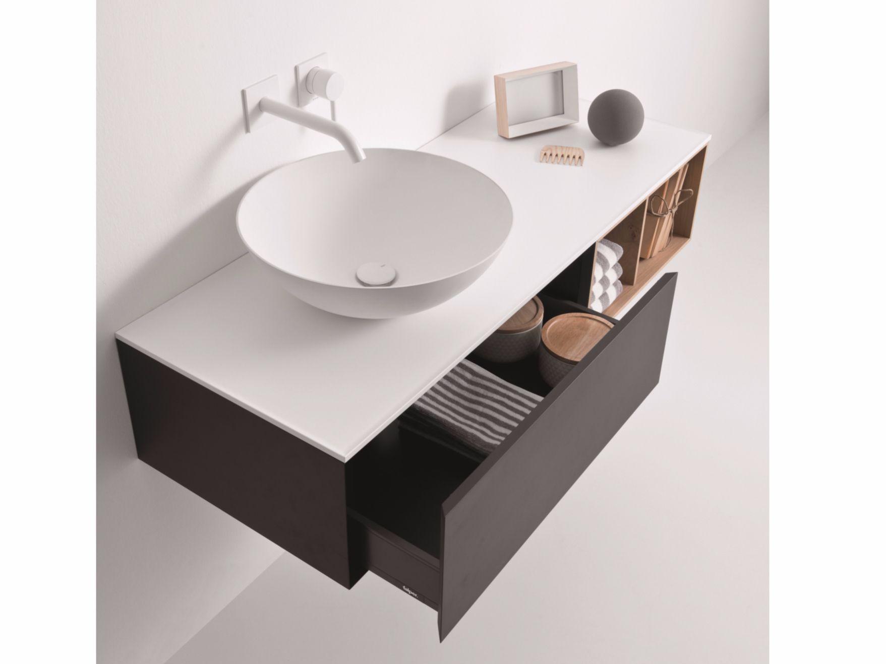 Schubladen Badezimmer ~ Lackierter hängender waschtischunterschrank mit schubladen quattro