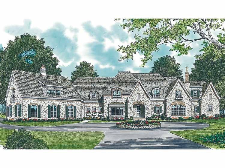 French Country House Plan With 9377 Square Feet And 6 Bedrooms S From Dream Home Source French Country House Plans French Country House Country House Plans