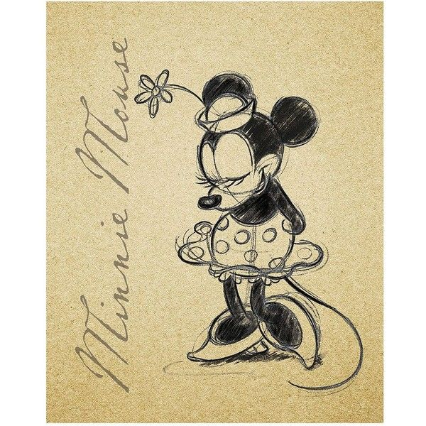 Disney\'s Minnie Mouse Sketch Framed Wall Art, Multi/None ($50 ...