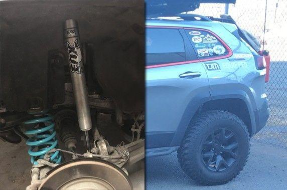 Rear Mount Fox Shock Adapters 2014 2017 Cherokee Mfc Offroad Jeep Cherokee Cherokee Shock