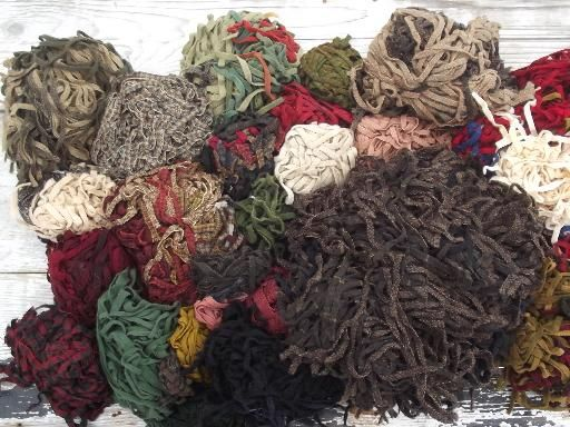 5 Lbs Wool Strips For Rug Hooking, Huge Lot Pre Cut Wool Fabric In