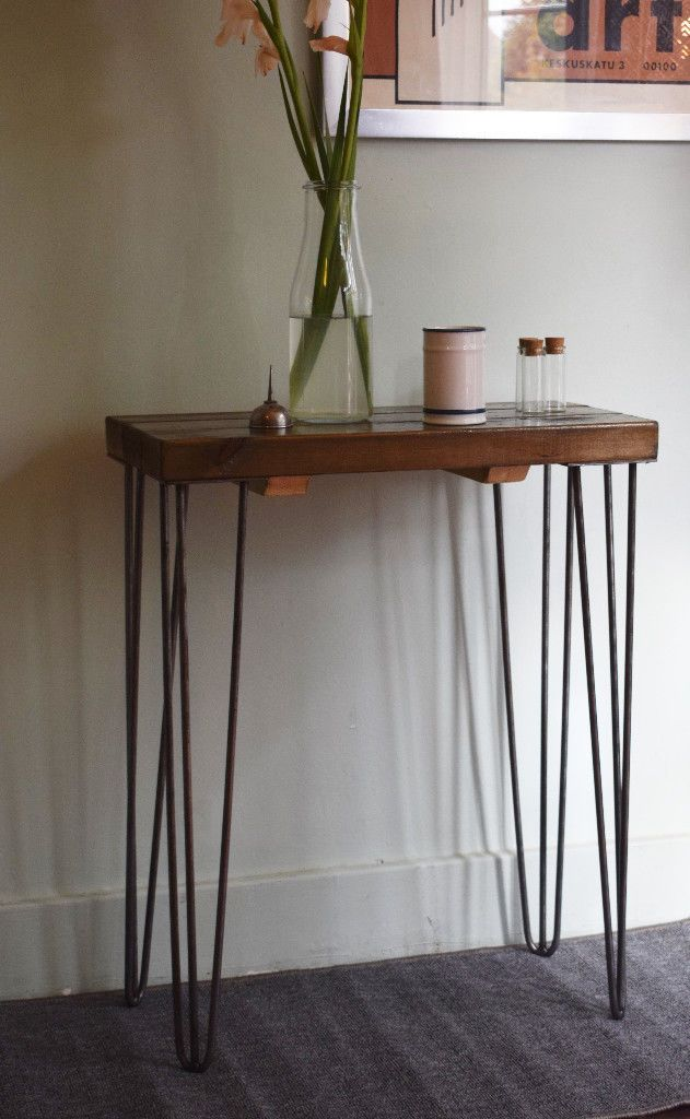60cm Industrial Console Table Mid Century Modern Style Hairpin Table Industrial Console Tables Hairpin Table Mid Century Modern Style