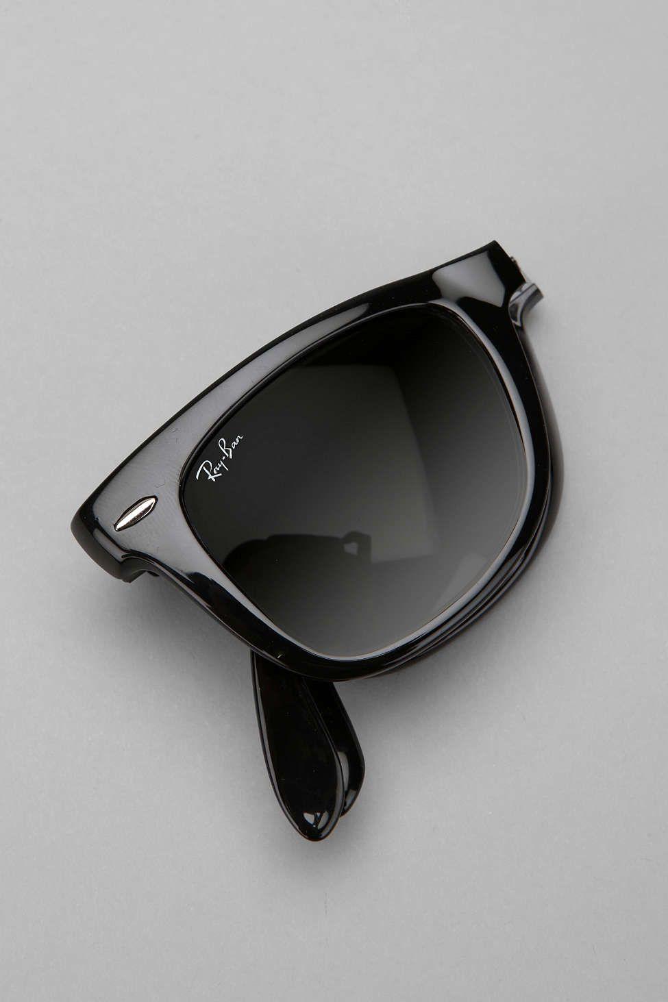 Ray-Ban Folding Wayfarer Sunglasses  - Urban Outfitters