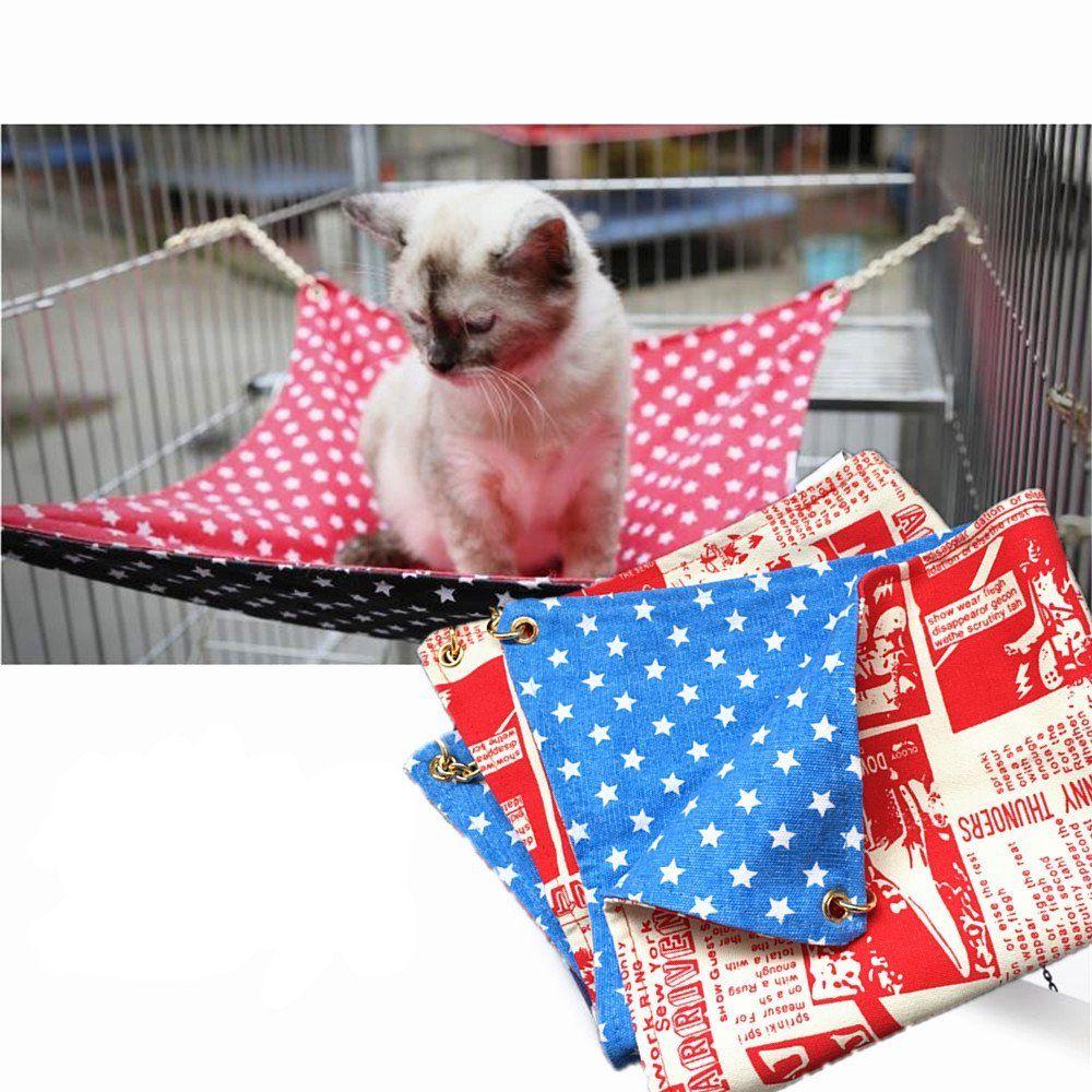 Fairwin cat hammock bed hanging soft canvas u x u use with