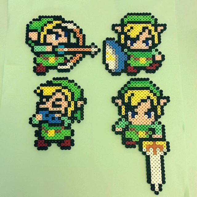 Link Mit Huhn Aus Bugelperlen Zelda A Link To The Past Etsy