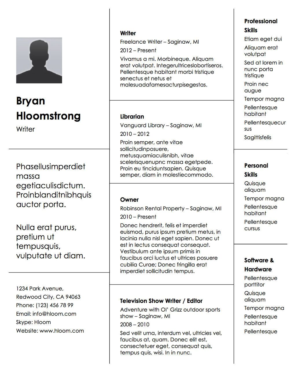 Buzzfeed Resume Templates Your Employment History Stacked Up In Block Form For