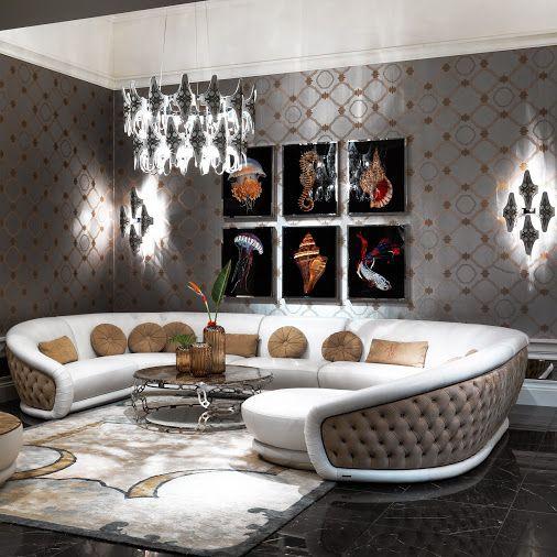 Luxury Living Room In Updated Hollywood Regency Style #lightingstores,  Interior Design, #livingroom