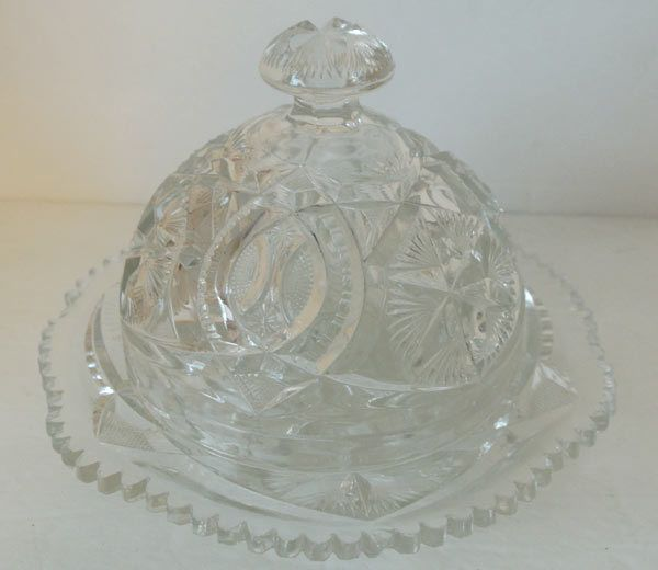 Carnival Glass Butter Dish Butter Dish With Dome Lid Vintage Etsy Carnival Glass Glass Serving Dishes Carnival Glass Bowls