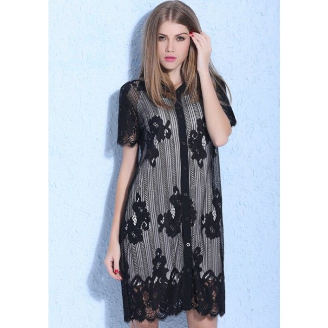 Plus Size Embroidery Spaghetti Strap Women's Lace Dress