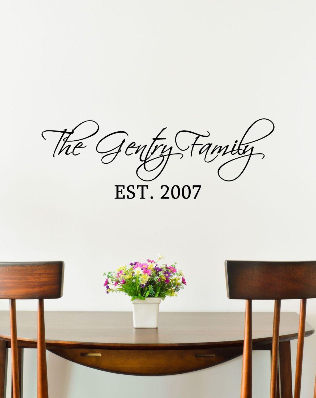 Custom Family Last Name Vinyl Decal Family Vinyl Wall Art Decal - Custom vinyl decals for home