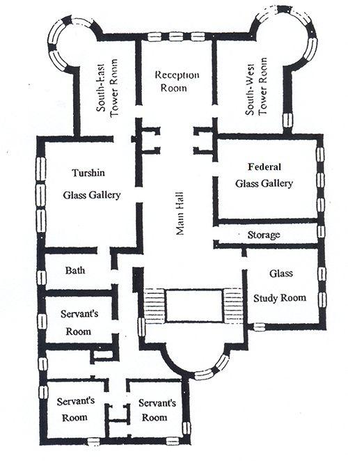 Cupples House Floor Plans Third Floor Castelos Medievais Arquitetura Castelo
