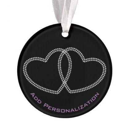Create Your Own Diamond 60th Wedding Anniversary Ornament 60