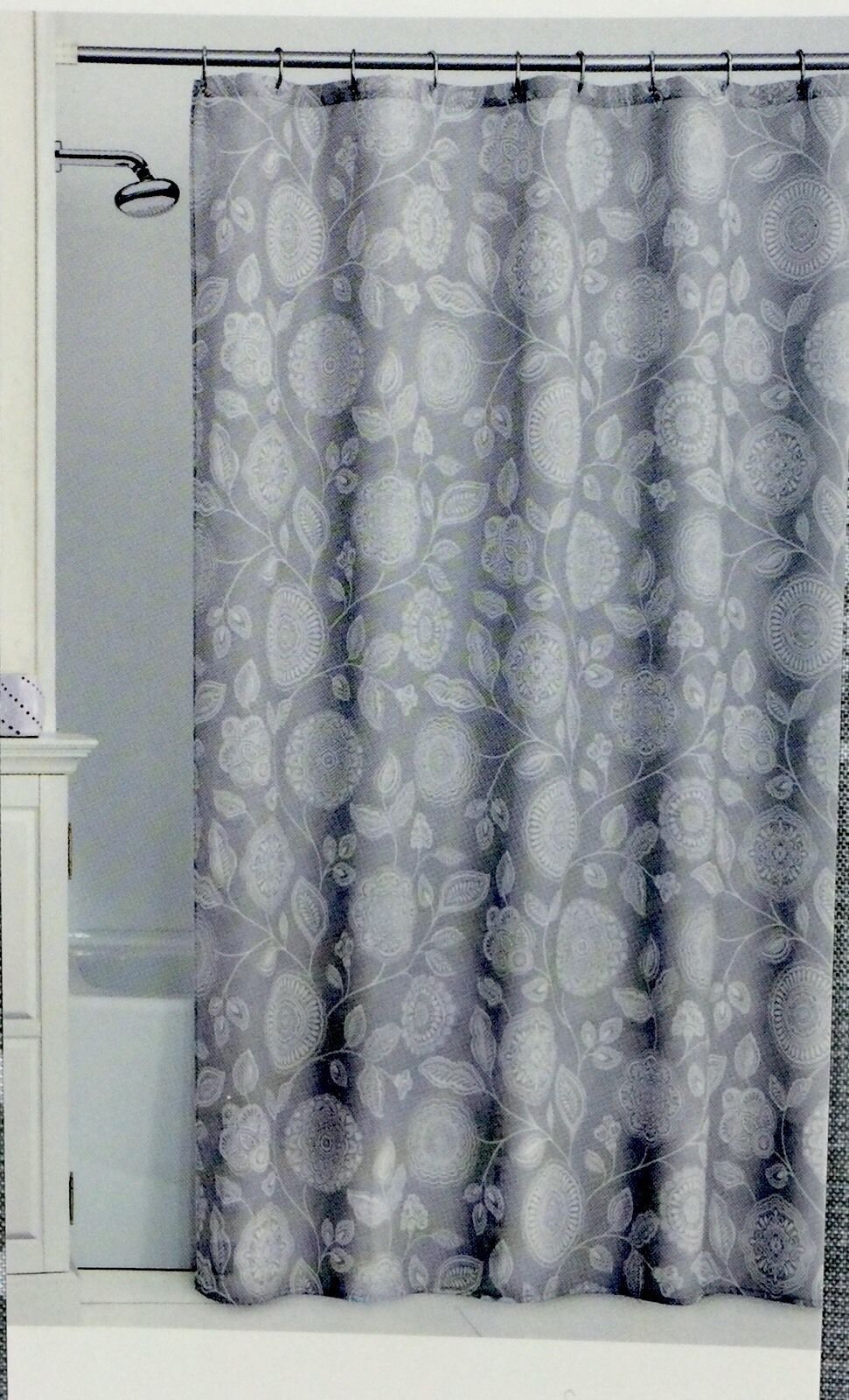Fabric Shower Curtain 70 X 72 Inch Comfort Bay New In Package Shipped Fast And Free