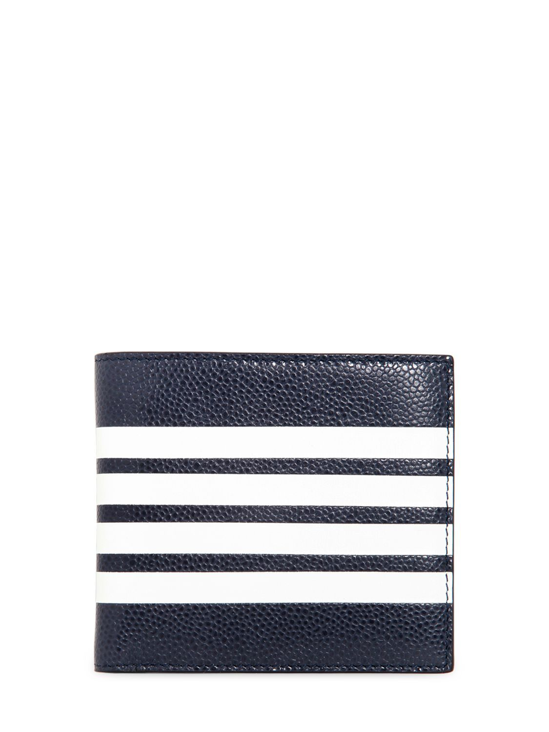 02448cfabbb1 THOM BROWNE BILLFOLD LEATHER WALLET W  STRIPES.  thombrowne