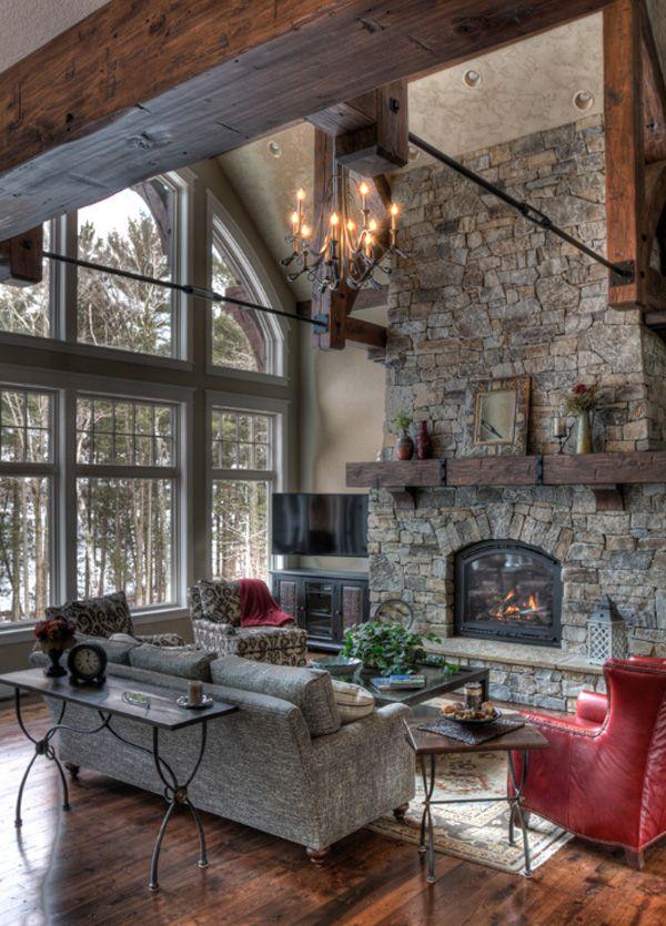 55 Awe-inspiring rustic living room design ideas | Living rooms ...