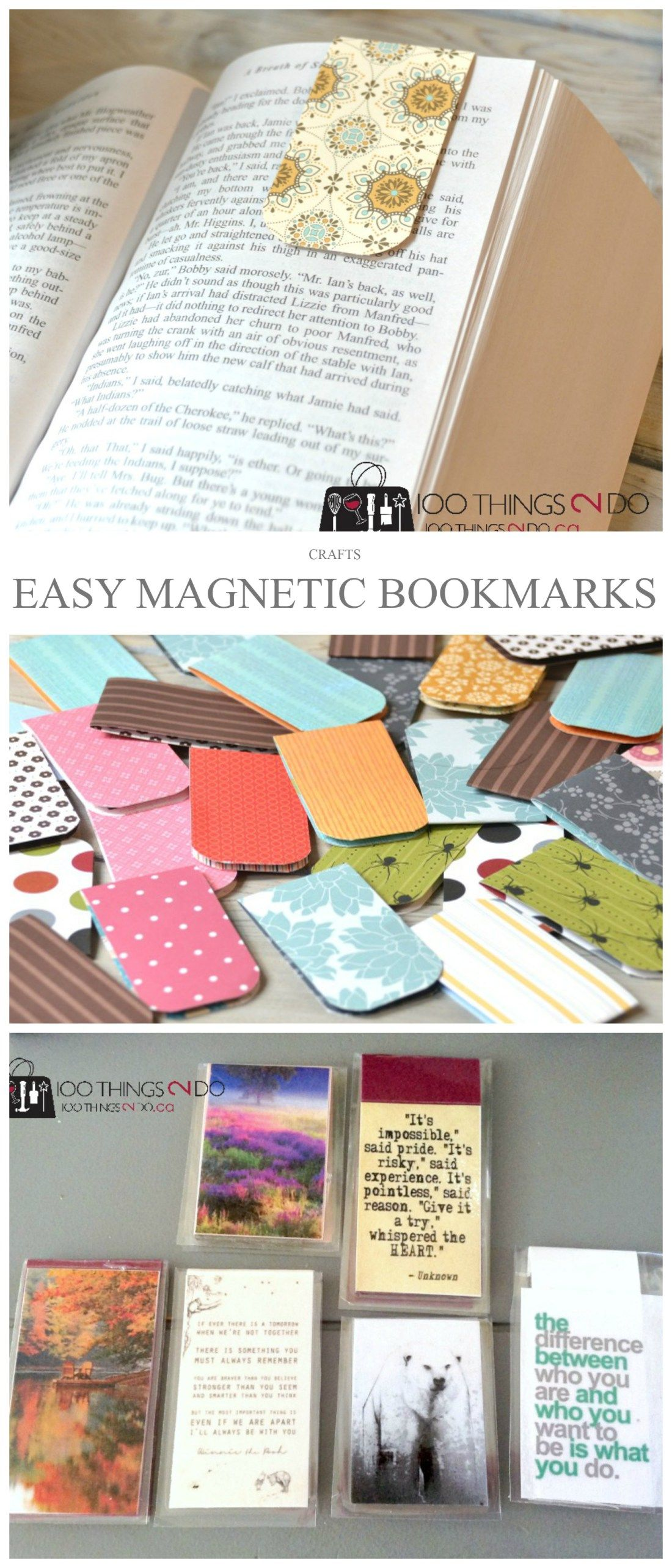 Easy Magnetic Bookmarks 100 Things 2