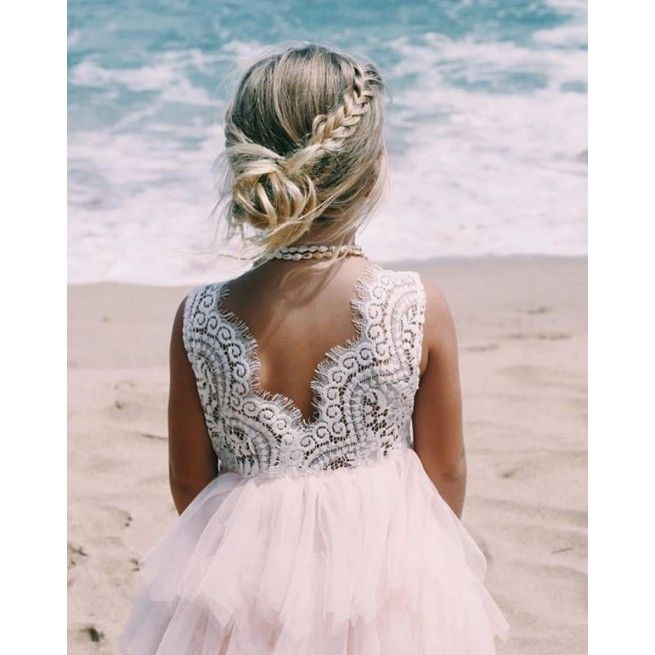 Robe Chloé | Robe fille mariage, Coiffure mariage enfant et