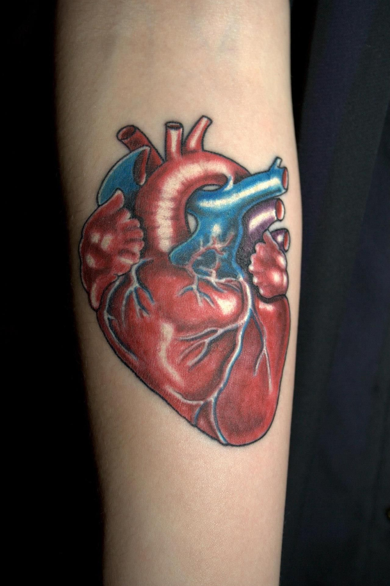 """The idea behind this tattoo was as simple as 'my heart's on my sleeve'."""