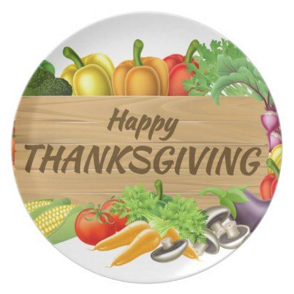 Thanksgiving Fruits And Vegetable Produce Sign Melamine Plate   Thanksgiving  Fruit And Thanksgiving