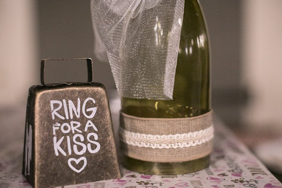 Ring for a kiss. Wedding decor fit for a southern wedding